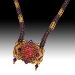 Crystal Tile Bracelet - Necklace variation 2010